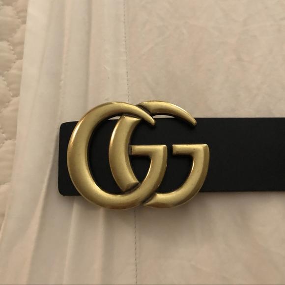 344977bb1fb Accessories - Fake Gucci Leather Belt with GG Buckle
